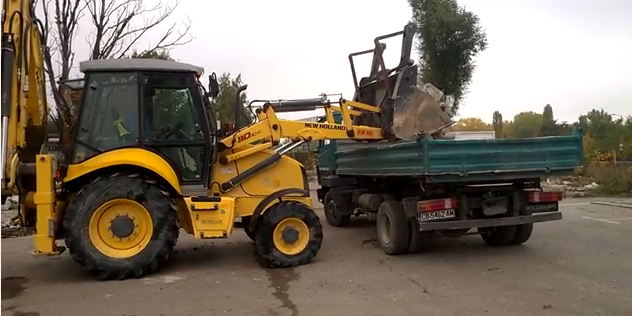 Събаряне на сграда и извозване на строителни отпадъци